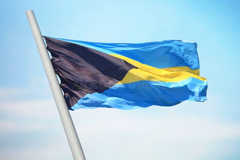 Vlag van de Bahamas stock afbeeldingen