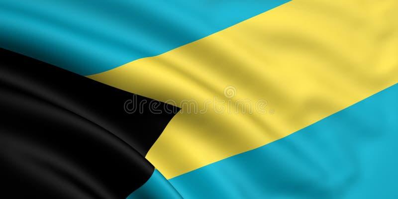 Vlag van de Bahamas stock illustratie