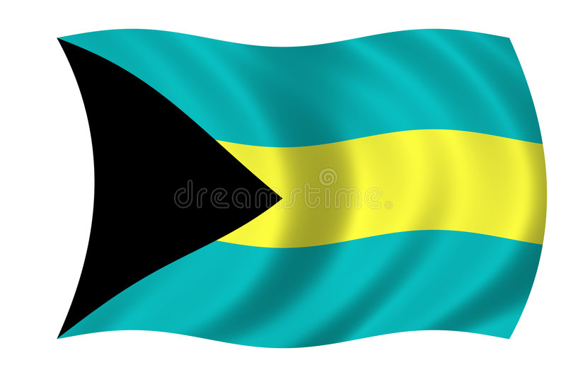 Vlag van de Bahamas royalty-vrije illustratie