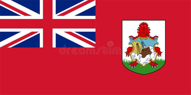 Vlag van de Bermudas vector illustratie
