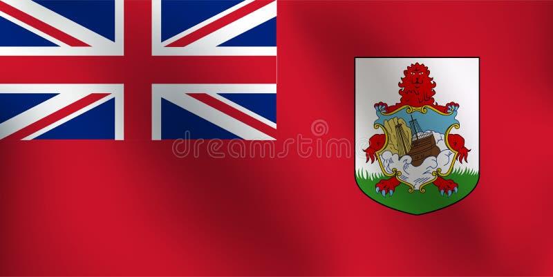 Vlag van de Bermudas - Vectorillustratie vector illustratie