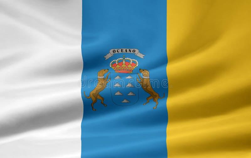 Vlag van de Canarische Eilanden royalty-vrije illustratie