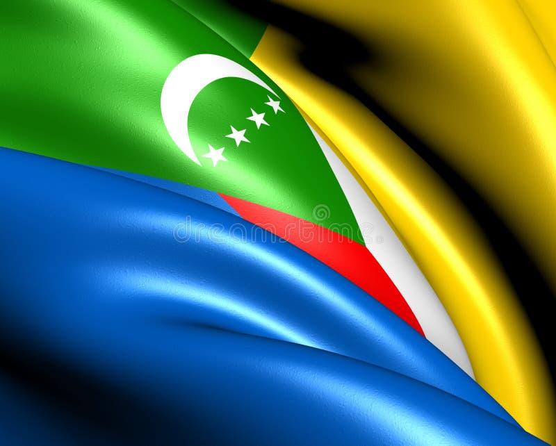 Vlag van de Comoren vector illustratie