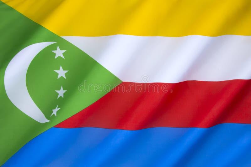 Vlag van de Comoren stock fotografie