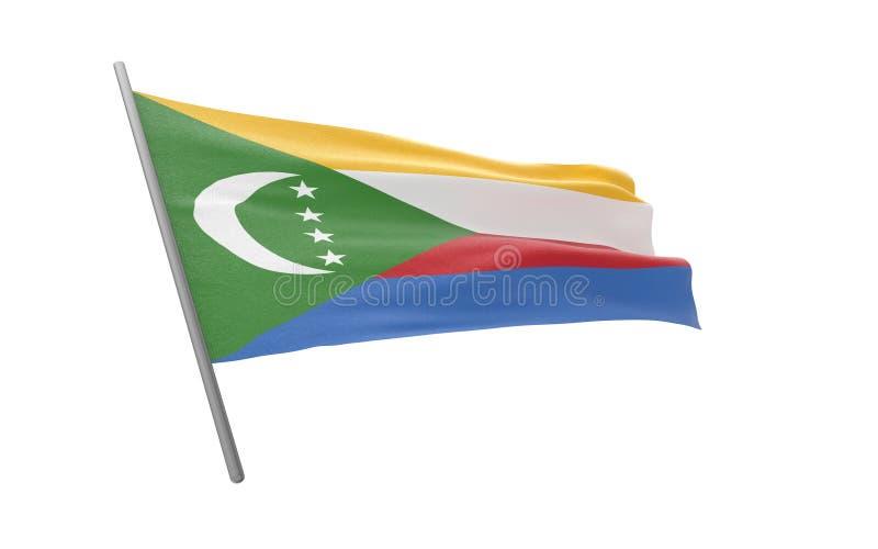 Vlag van de Comoren stock illustratie