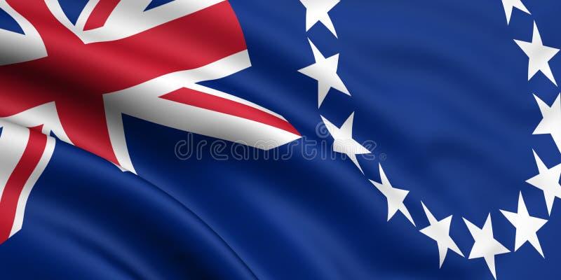 Vlag van de Cook Eilanden royalty-vrije illustratie