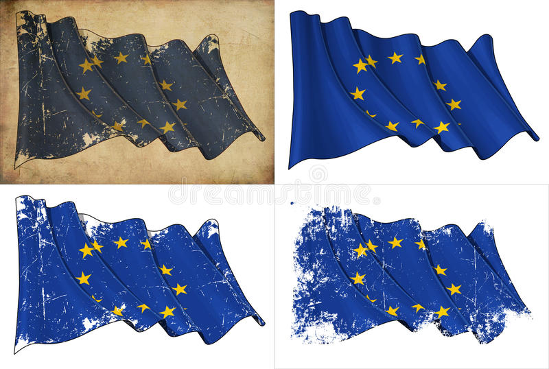 Vlag van de EU royalty-vrije illustratie