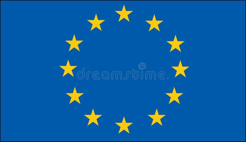 Vlag van de Europese Unie vector illustratie