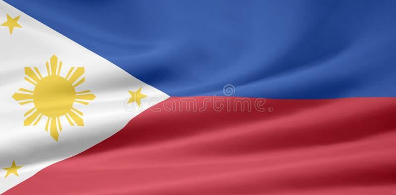 Vlag van de Filippijnen vector illustratie