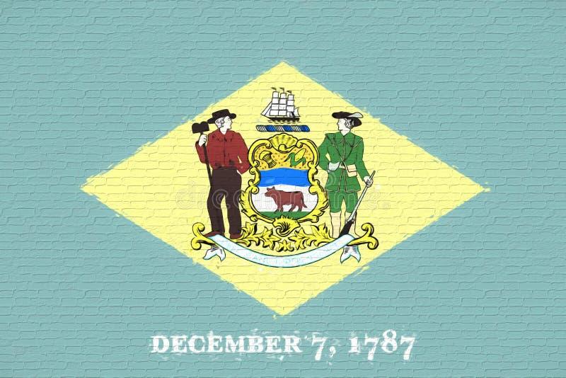 Vlag van de Muur van Delaware stock illustratie