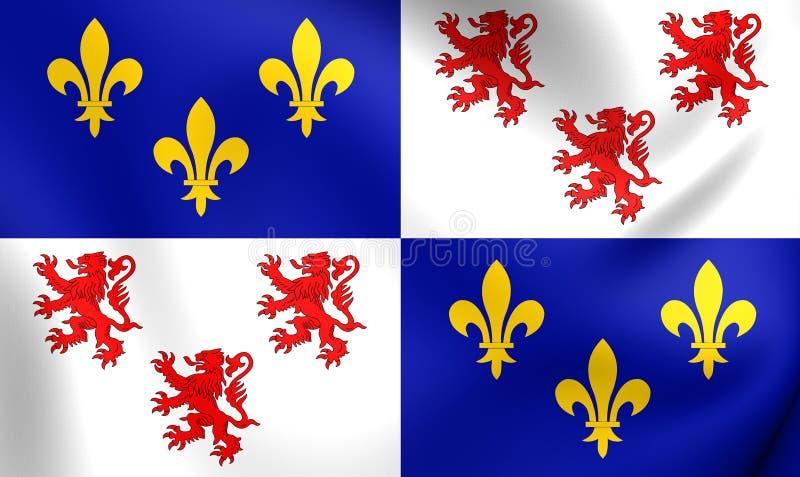 Vlag van de Picardie, Frankrijk vector illustratie