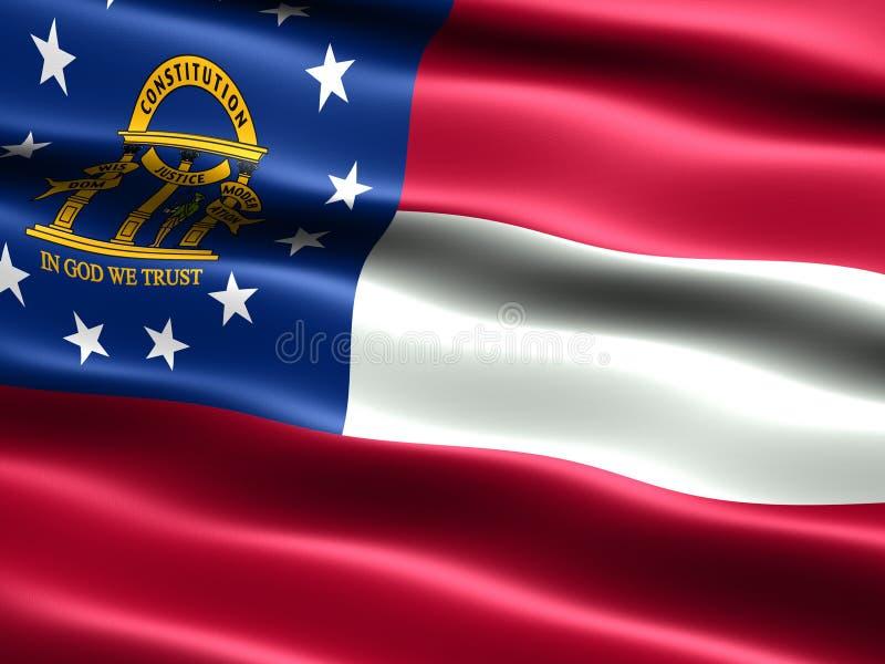 Vlag van de staat Georgië vector illustratie