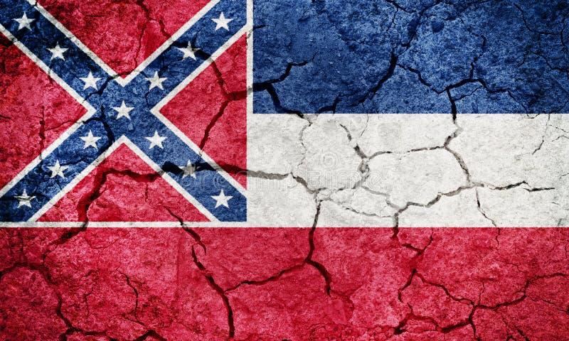 Vlag van de staat van de Mississippi royalty-vrije illustratie