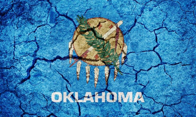 Vlag van de staat van Oklahoma stock fotografie