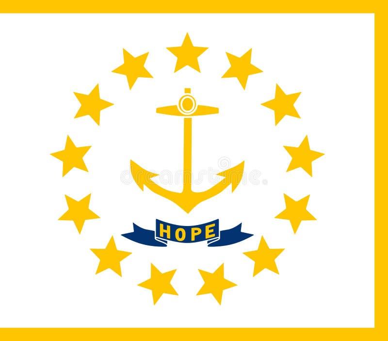 Vlag van de Staat van de V.S. van Rhode Island, vector vector illustratie