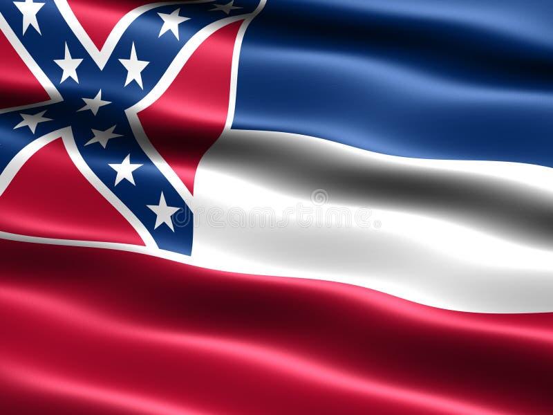Vlag van de staat van de Mississippi stock illustratie
