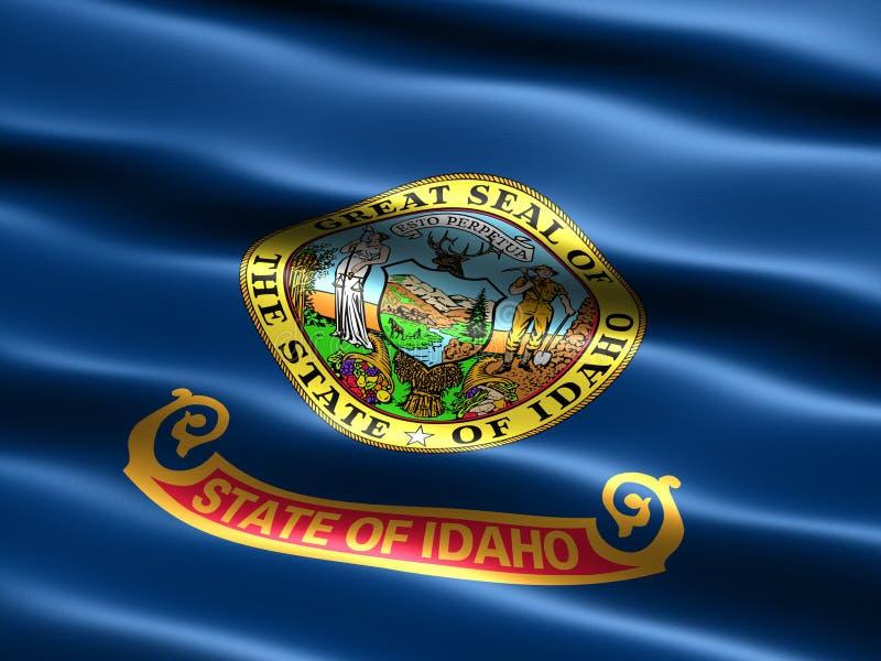 Vlag van de staat van Idaho vector illustratie