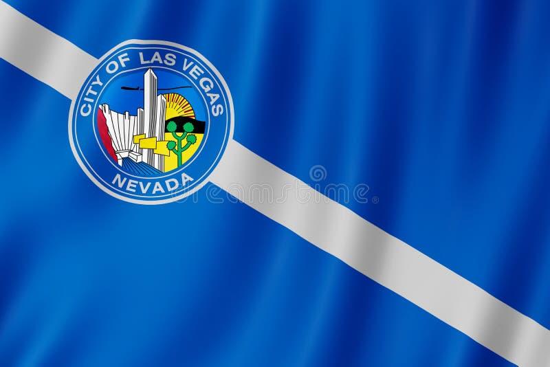 Vlag van de stad van Las Vegas, Nevada de V.S. stock illustratie