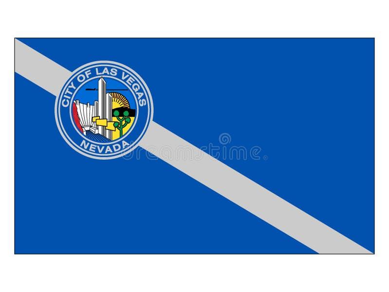 Vlag van de Stad van de V.S. van Las Vegas, Nevada vector illustratie