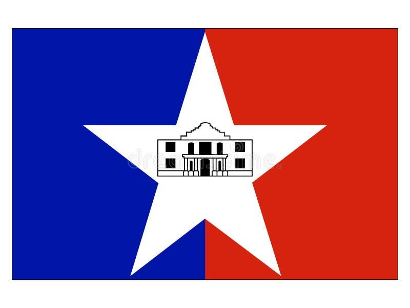 Vlag van de Stad van de V.S. van San Antonio, Texas stock illustratie