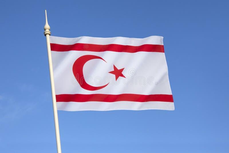 Vlag van de Turkse Republiek Noordelijk Cyprus royalty-vrije stock foto's