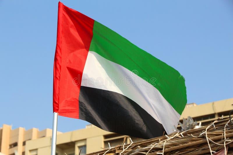 Vlag van de V.A.E stock fotografie