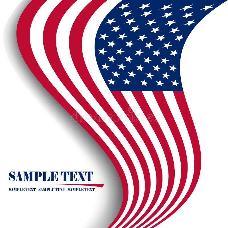Vlag van de V.S. royalty-vrije illustratie