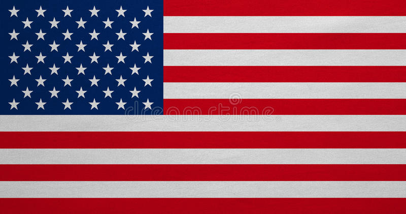 Vlag van de V.S., echte gedetailleerde stoffentextuur, zeer grote grootte stock foto