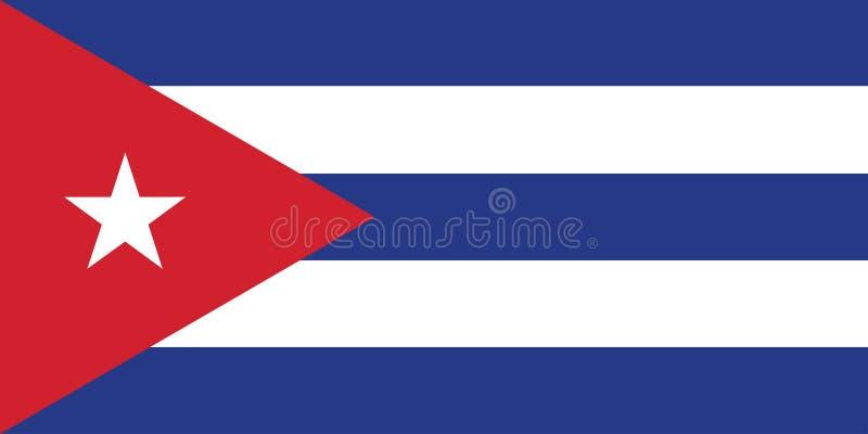 Vlag van de vectorillustratie van Cuba royalty-vrije illustratie