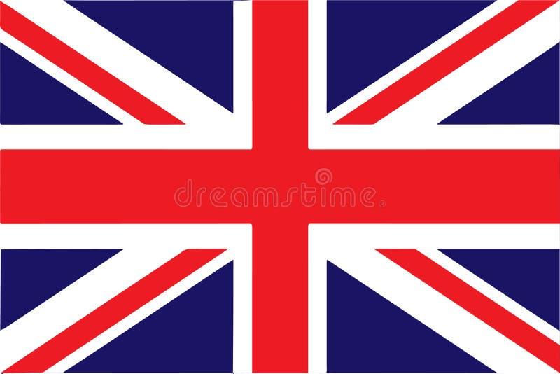 Vlag van de Vectorillustratie EPS10 van het Verenigd Koninkrijk vector illustratie