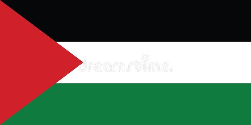 Vlag van de vectorillustratie van Palestina royalty-vrije illustratie
