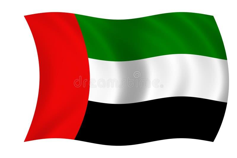 Vlag van de verenigde Arabische emiraten royalty-vrije illustratie
