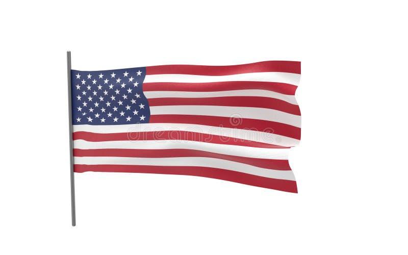 Vlag van de Verenigde Staten vector illustratie