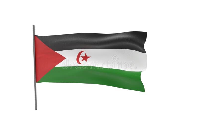 Vlag van de Westelijke Sahara royalty-vrije illustratie