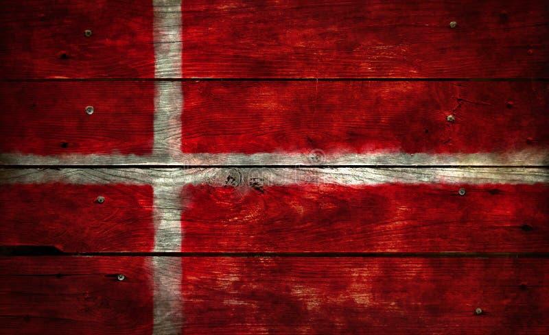 Vlag van Denemarken stock afbeelding