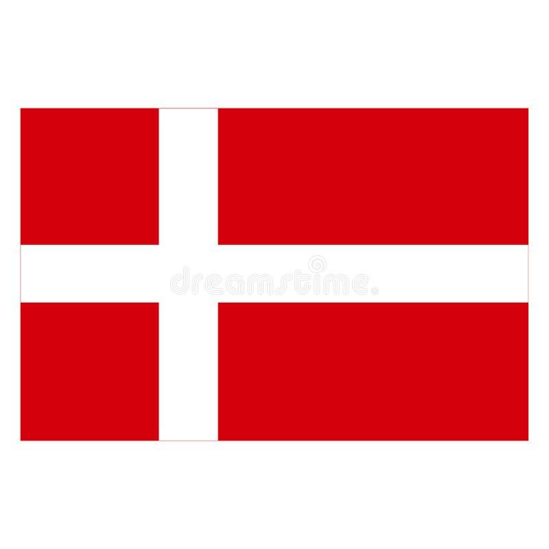 Vlag van Denemarken EPS 10 stock illustratie