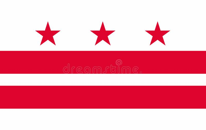 Vlag van District van de staat van Colombia van de Verenigde Staten vector illustratie
