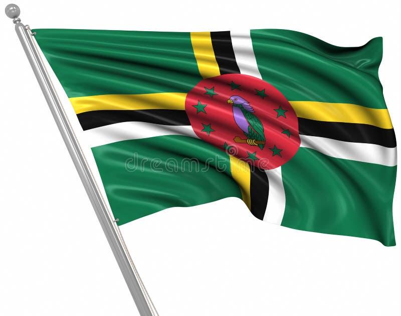 Vlag van Dominica vector illustratie