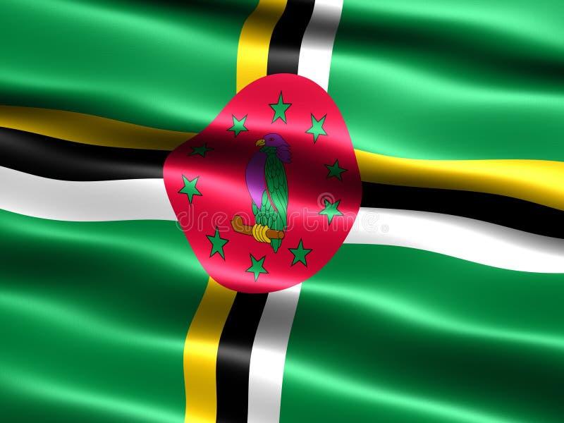 Vlag van Dominica stock illustratie