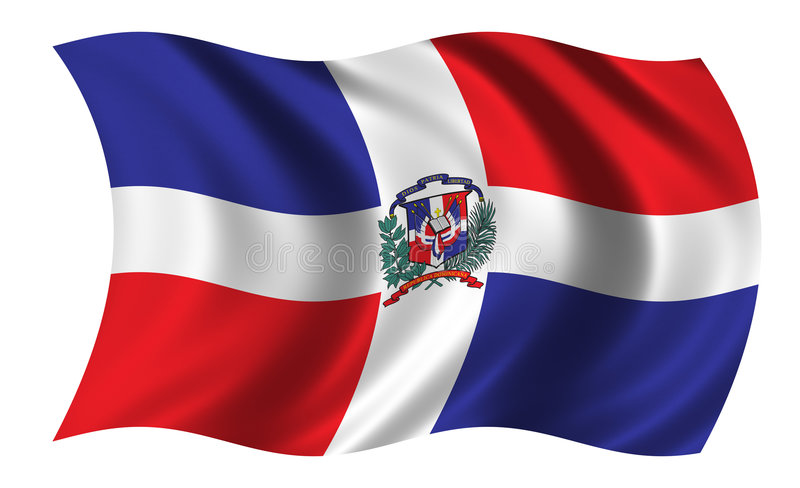 Vlag van Dominicaanse Republiek vector illustratie