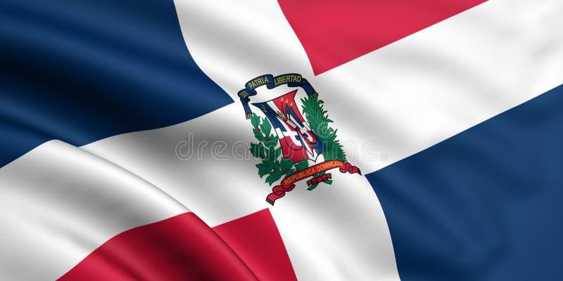 Vlag van Dominicaanse Republiek royalty-vrije illustratie