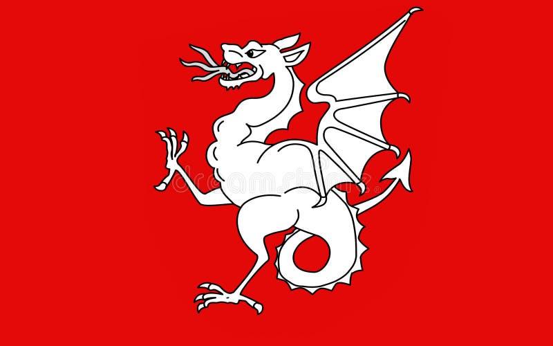 Vlag van Draguignan, Frankrijk stock afbeeldingen