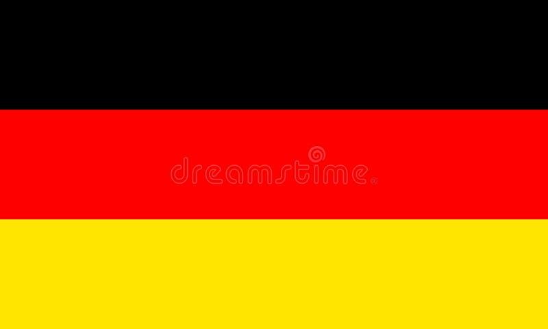 Vlag van Duitsland stock illustratie