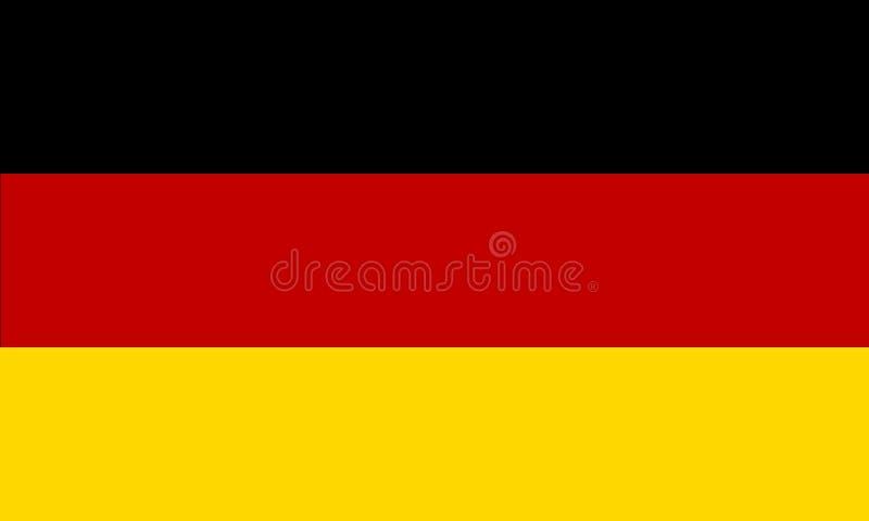 Vlag van Duitsland royalty-vrije illustratie