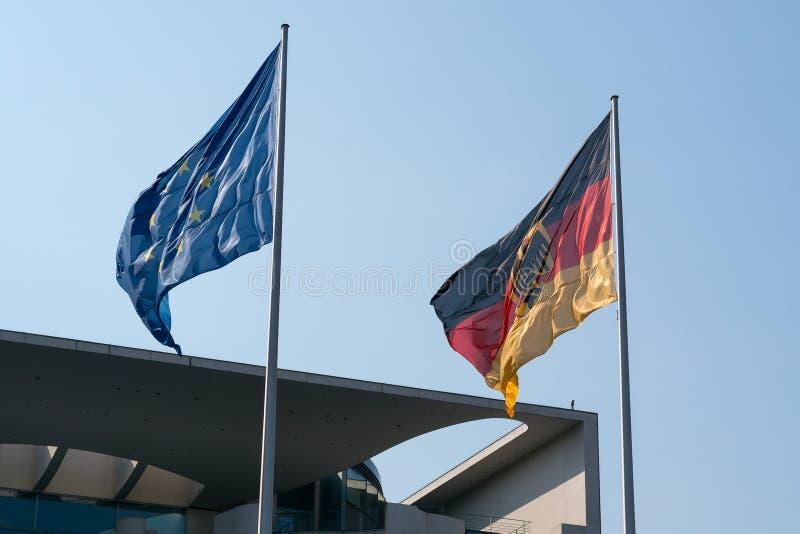 Vlag van Duitsland en de EU royalty-vrije stock afbeelding
