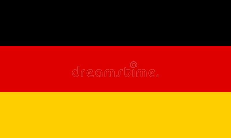 Vlag van Duitsland Vector illustratie EPS10 vector illustratie