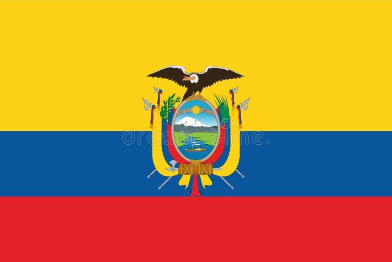 Vlag van Ecuador vector illustratie