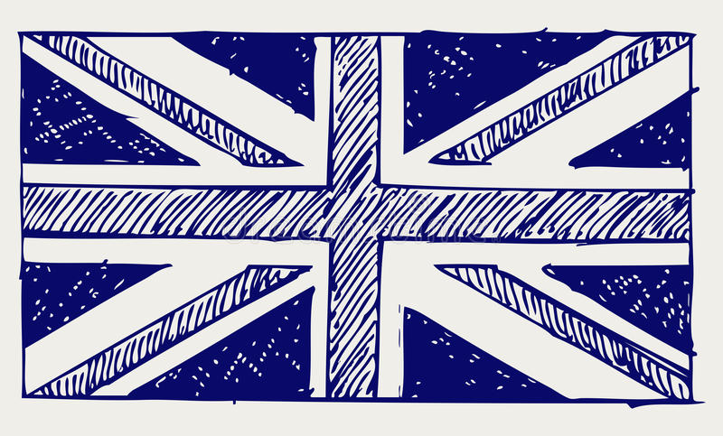 Vlag van Engeland stock illustratie