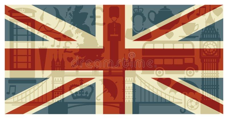 Vlag van Engeland vector illustratie