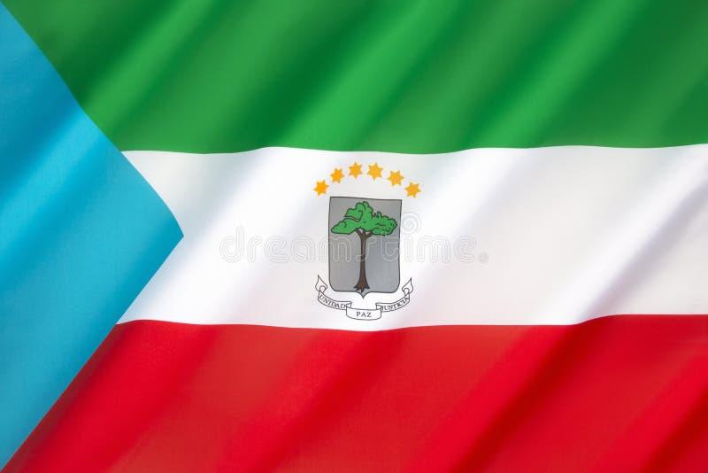 Vlag van Equatoriaal Guinea stock afbeelding